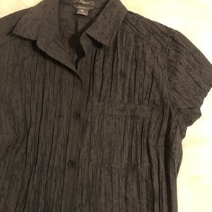 Eddie Bauer Tops - Eddie Bauer short sleeve button up size xs gray